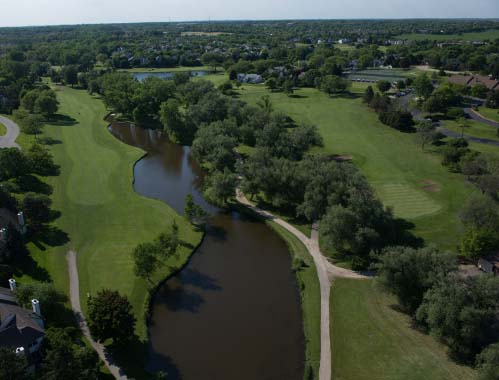Aerial view of HeatherRidge Golf Club